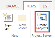 Create projects from list items