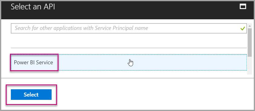 Power BI Service API